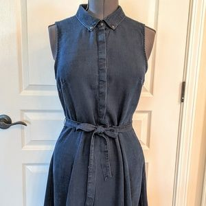 Banana Republic Shirt Dress Dark Denim Size 8